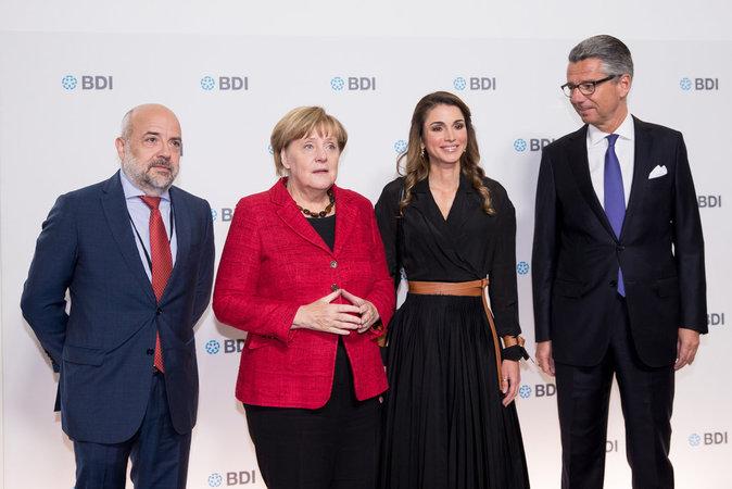 Rania de Jordanie à Berlin le 6 octobre 2016