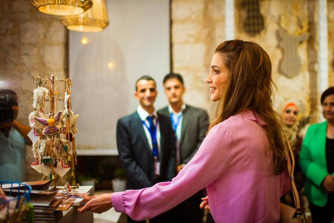 Rania de Jordanie à Amman le 25 octobre 2015