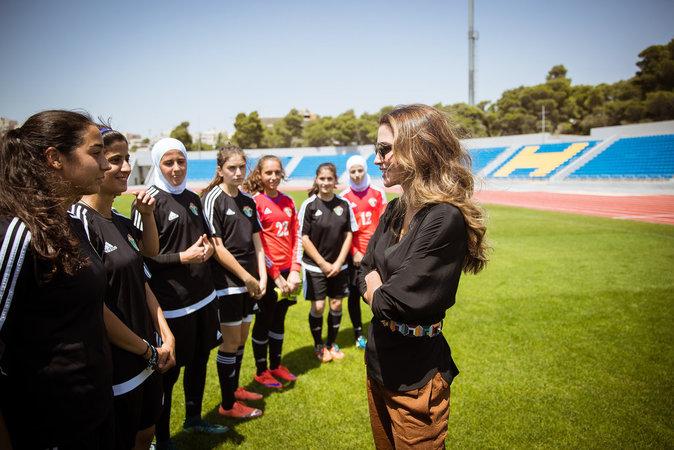La reine Rania le 23 août à Amman