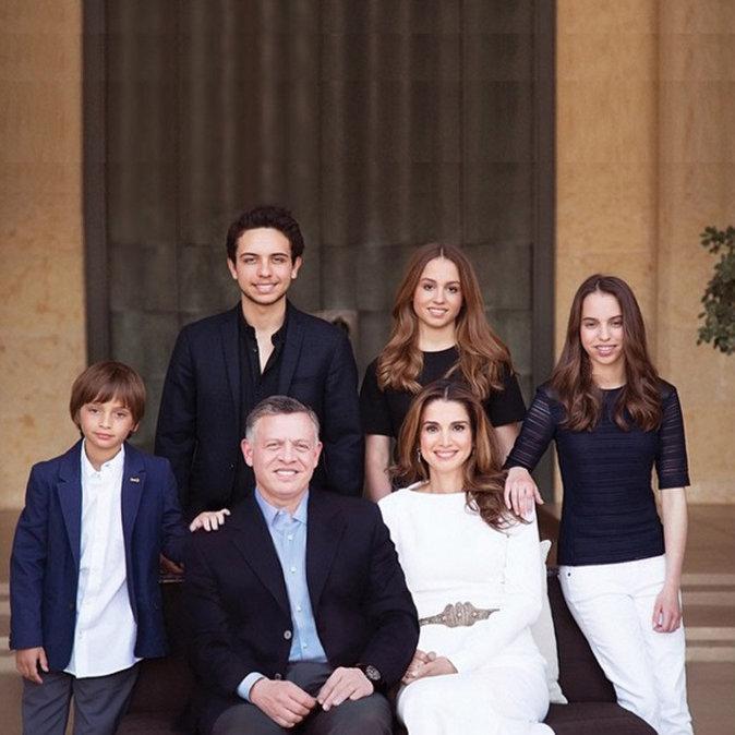 La famille royale de Jordanie en mai 2015