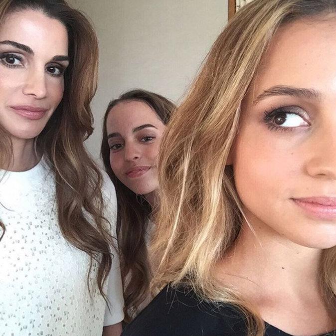 La reine Rania et ses filles, Iman (19 ans) et Salma (15 ans)