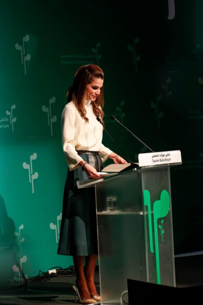 Photos : Rania de Jordanie : toujours aussi remarquable et engagée, une reine de l'élégance et du discours ! A