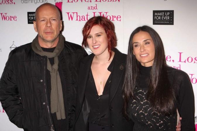 Brice Willis et Demi Moore avec leur fille Rumer