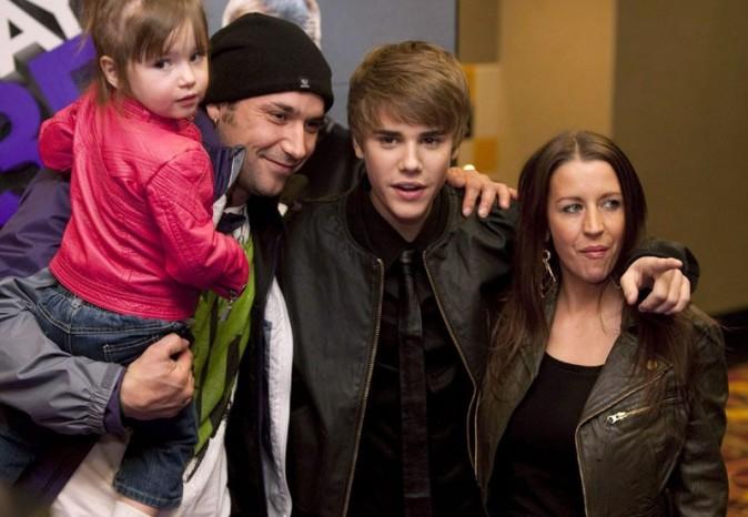 Justin Bieber avec son papa et sa maman !