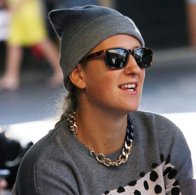 Victoria Azarenka sur le tournage du nouveau clip de RedFoo à Miami le 2 octobre 2013
