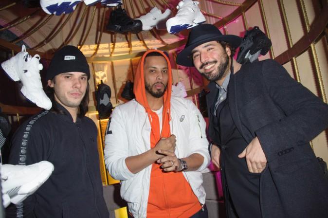 Disiz et Orelsan à la soirée Reebok x Sandro organisée à Paris le 29 janvier 2015