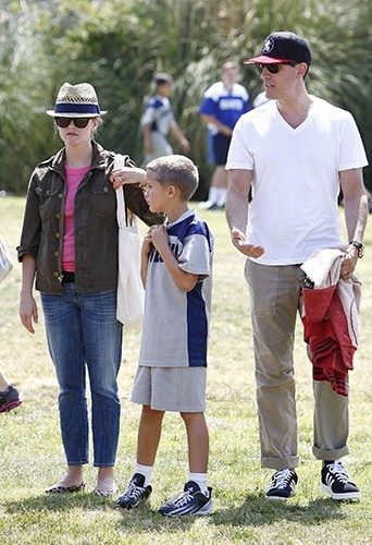 Reese Witherspoon, Deacon Philippe et Jim Toth à Brentwood le 18 mai 2013