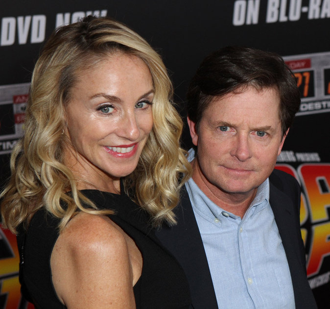 Michael J. Fox et sa femme Tracy Polland