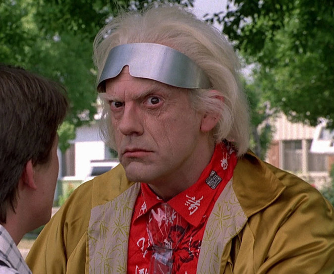Christopher Lloyd / le Doc Emmett Brown