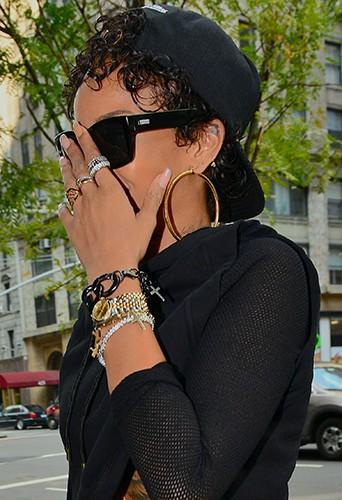 Rihanna à New-York le 13 août 2013