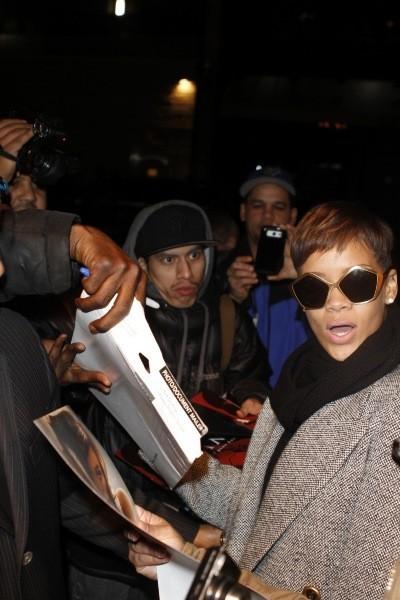 Rihanna à New York, le 29 janvier 2013.