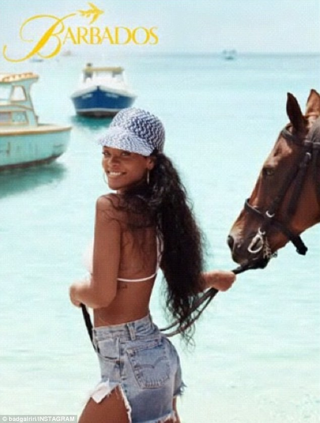 Rihanna en promo pour la Barbade !
