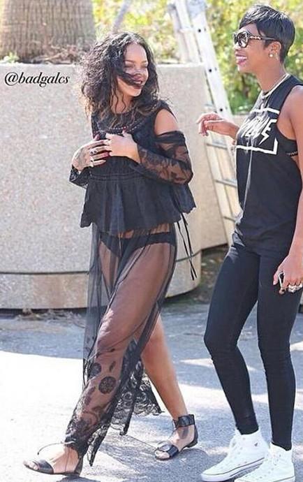 Rihanna à Antibes le 4 septembre 2014
