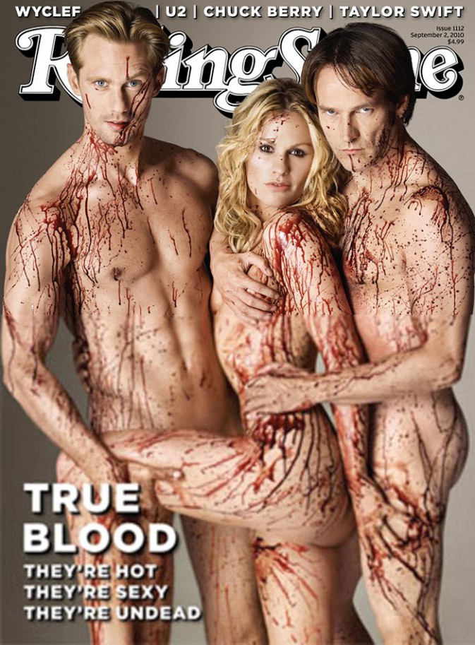 Alexander Skarsgard, Anna Paquin et Stephen Moyer pour Rolling Stone septembre 2010