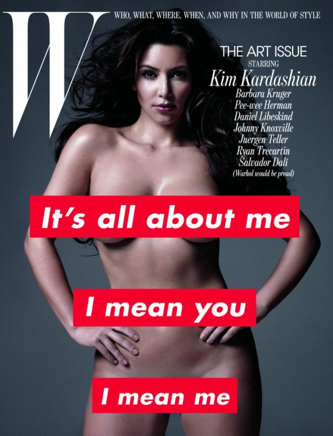 Kim Kardashian pour W