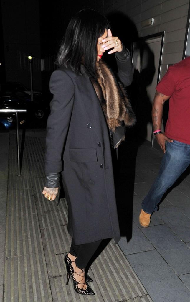 Rihanna à Manchester, le 11 mars 2014.