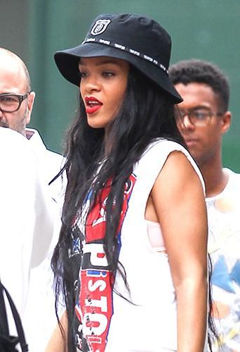 Rihanna à New York le 22 août 2014