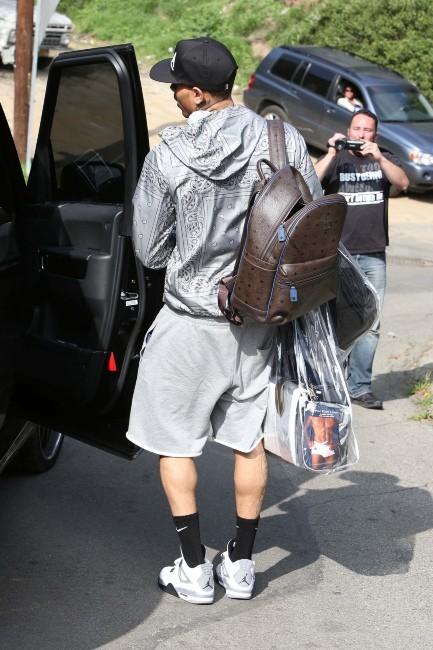 Chris Brown le 6 février 2013 à Los Angeles