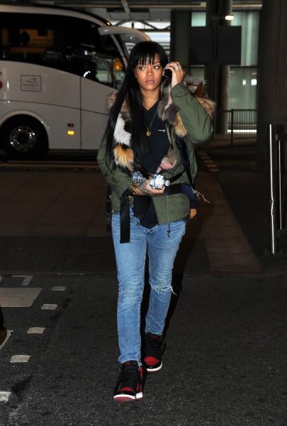 Rihanna à Londres, le 24 mars 2014.