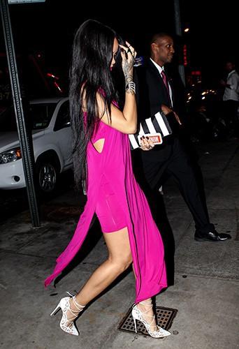 Rihanna à New York le 18 août 2014