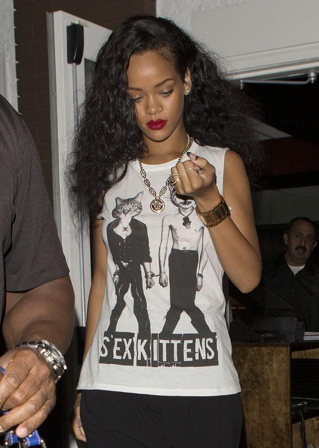 Rihanna le 22 août 2012 à Los Angeles