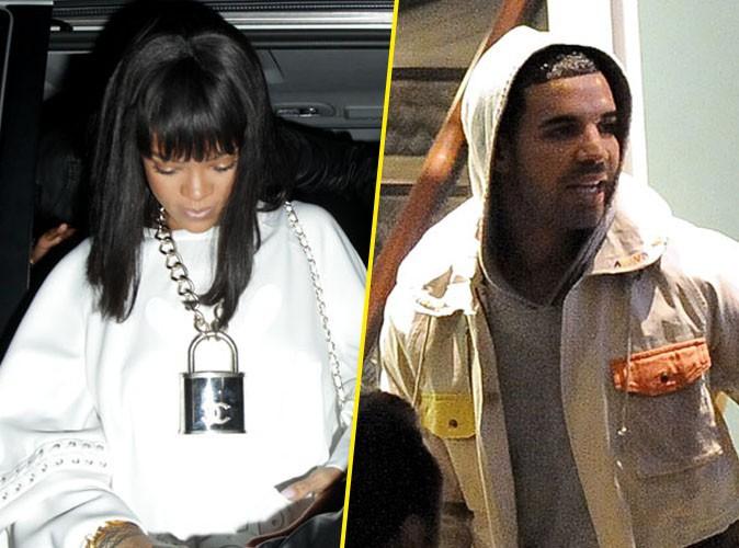 Rihanna et Drake à Londres, le 10 mars 2014.