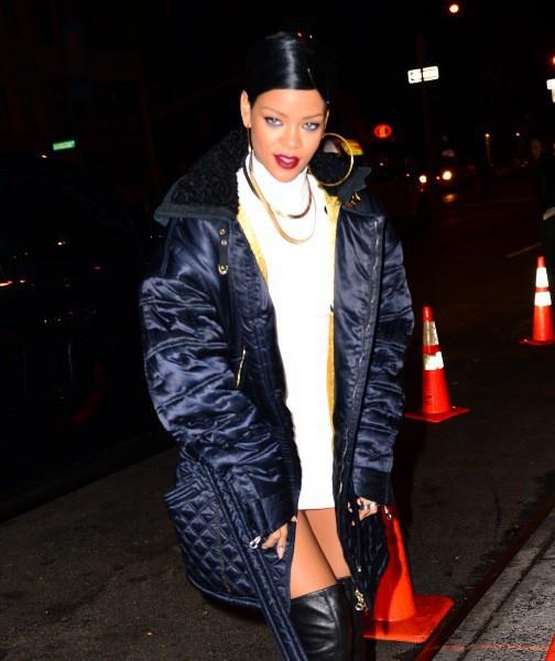 Rihanna à New York, le 27 novembre 2013.