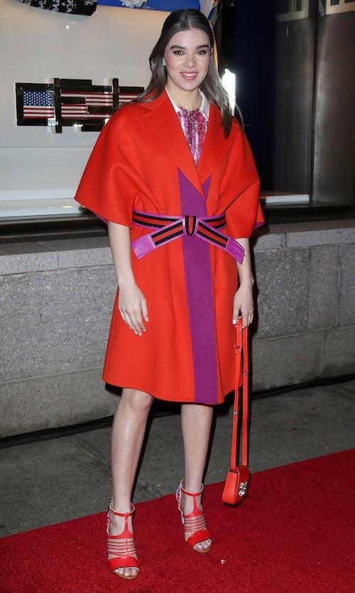 Hailee Steinfeld à l'ouverture du flagship Fendi à New York, le 13 février 2015