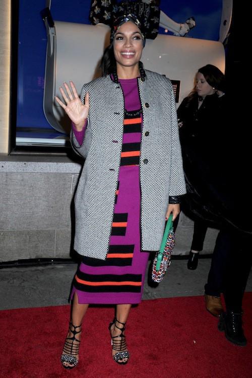 Rosario Dawson à l'ouverture du flagship Fendi à New York, le 13 février 2015