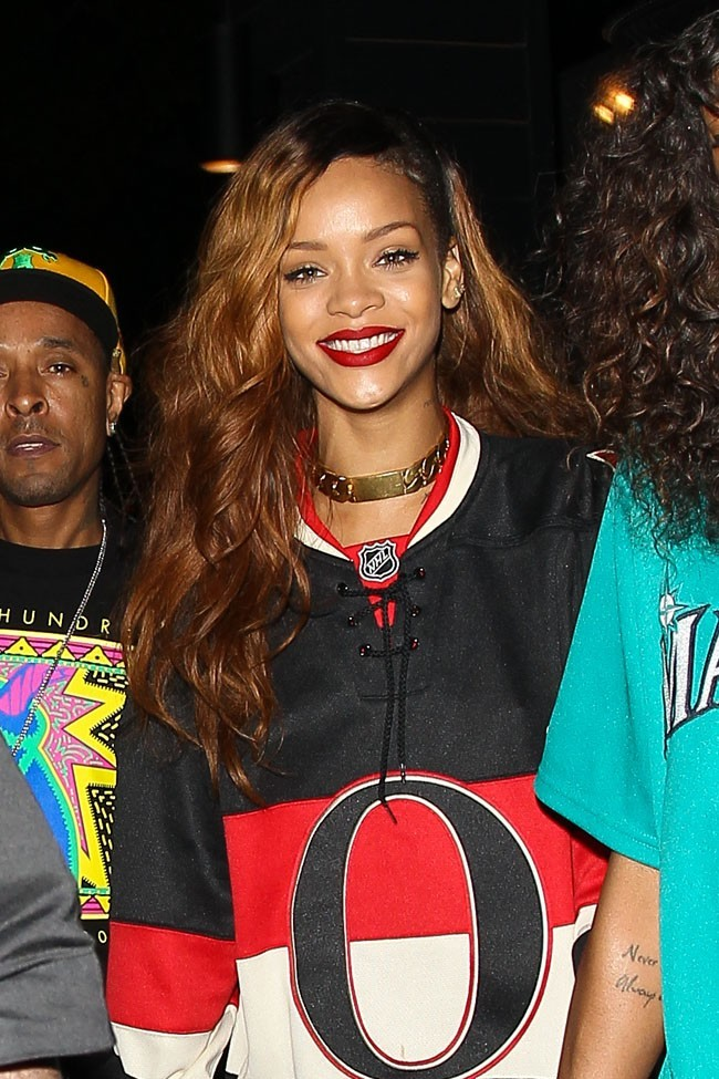 Rihanna avec son assistante Melissa Forde au Greystone Manor de West Hollywood le 7 avril 2013