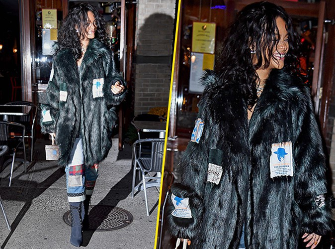 Rihanna : la Bad Gal super styl�e d�gaine la fourrure !