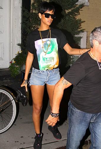 Rihanna à New-York le 24 août 2013