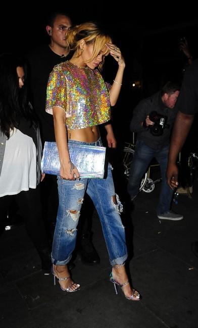 Rihanna se rendant dans le club Boujis à Londres, le 16 juin 2013.