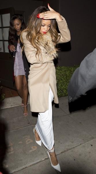 Rihanna le 10 février 2013 à Los Angeles