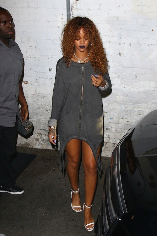 Photos : Rihanna : mini robe pour un maxi effet !