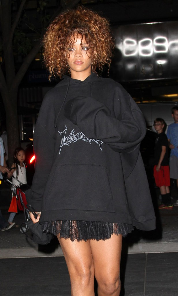 Rihanna à New-York le 11 août 2015
