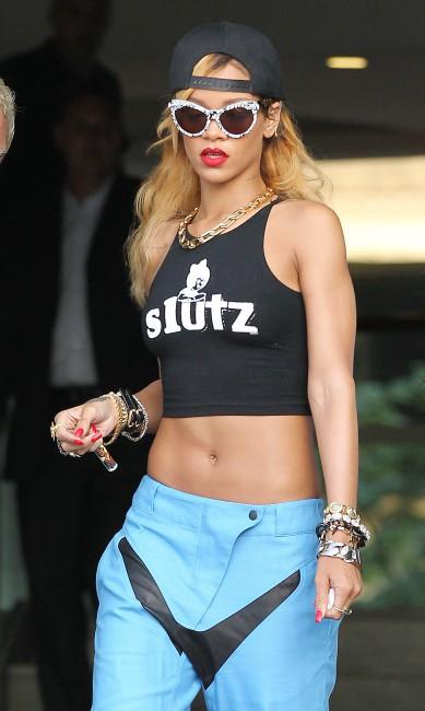 Rihanna à Manchester, le 16 juillet 2013.