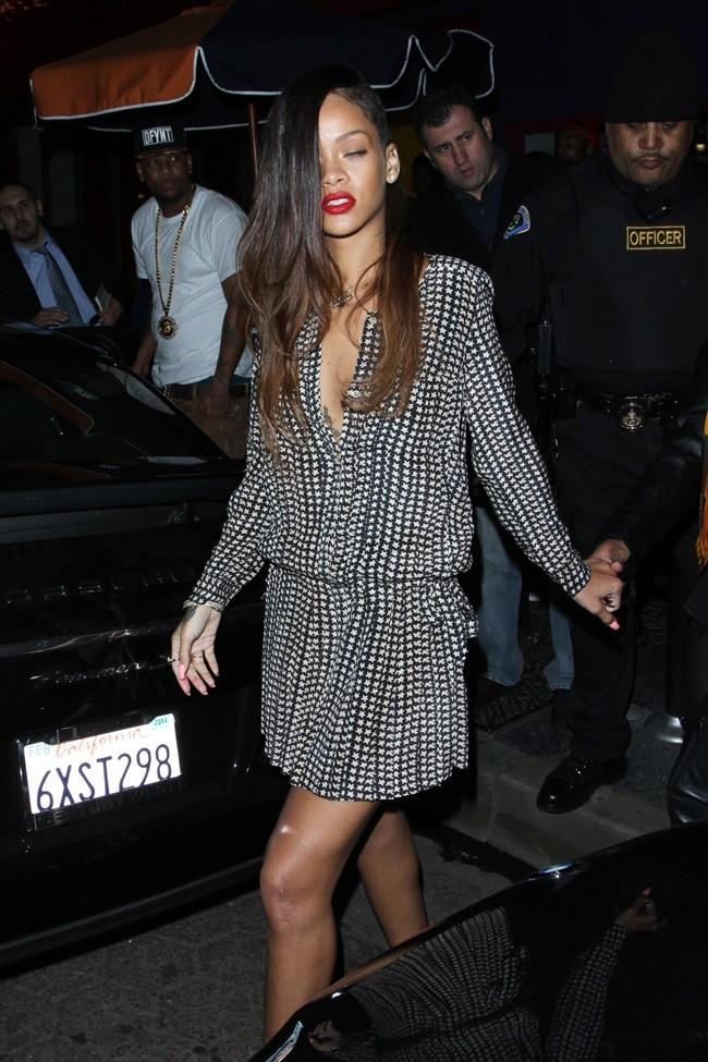 Rihanna au club My Studio de Los Angeles le 6 janvier 2013