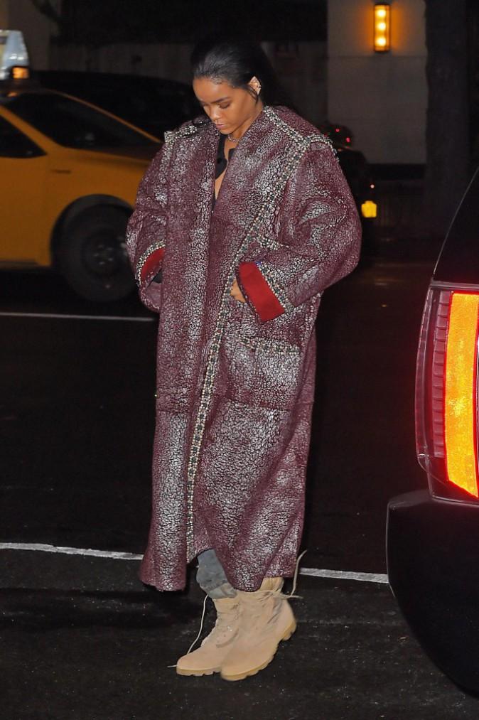 Rihanna à New York le 22 décembre 2014
