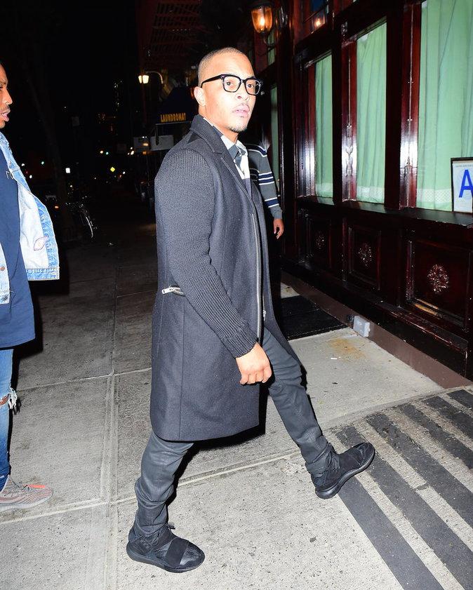 Le rappeur T.I. à la sortie du restaurant italien le 6/10/16