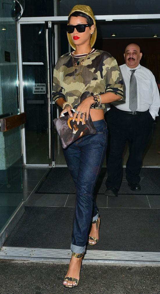Rihanna à New-York le 14 août 2013