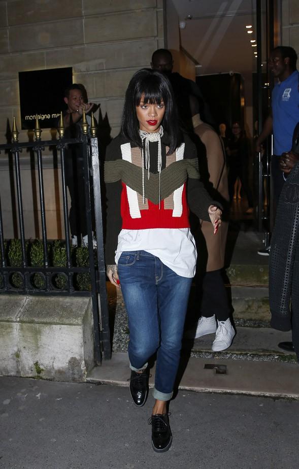 Rihanna en virée shopping à Paris le 4 mars 2014