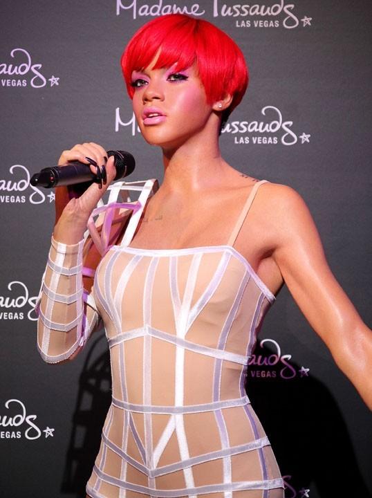 Nouvelle statue de cire de Rihanna au musée de Madame Tussaud à Los Angeles