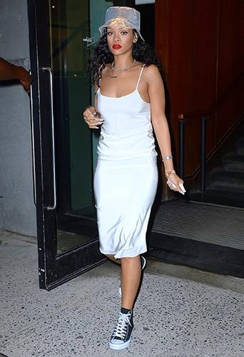 Rihanna à New York le 10 juillet 2014