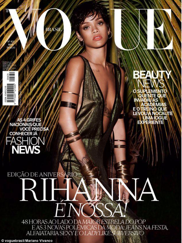 Rihanna : son shooting super hot pour Vogue Brésil enfin dévoilé !