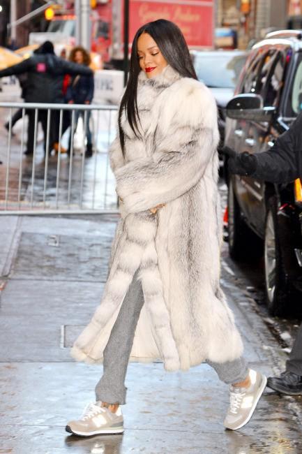 Rihanna à New York, le 29 janvier 2014.