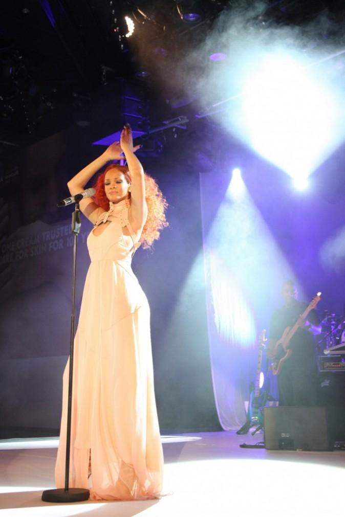 Rihanna lors des 100 ans de Nivea à Hambourg en Allemagne, le 9 mai 2011.