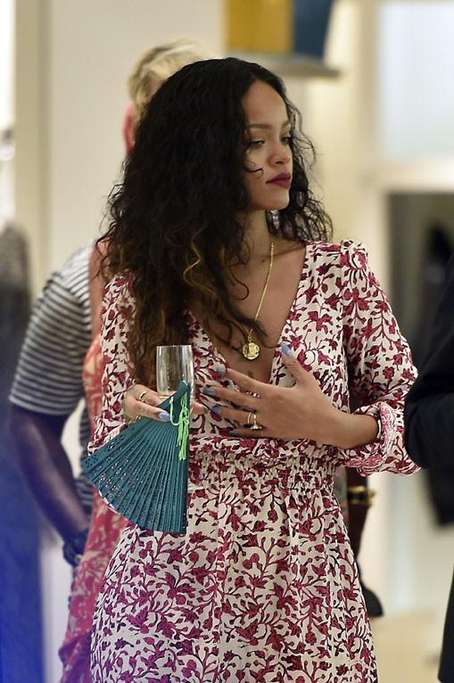 Rihanna à Porto-Cervo le 29 août 2014