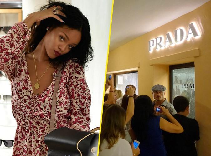 Rihanna : toujours en vacances en Sardaigne, elle cr�e l'�meute chez Prada !