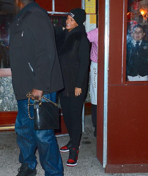 Rihanna à New-York le 6 janvier 2014
